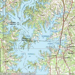 lake norman fishing map Lake Norman Stripers Bob Redfern S Outdoor Magazine Tv Series lake norman fishing map